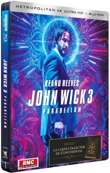 John Wick Parabellum (2019) de Chad Stahelski - Édition Limitée SteelBook - Packshot Blu-ray 4K Ultra HD