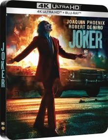 Joker (2019) de Todd Phillips - Édition Steelbook - Packshot Blu-ray 4K Ultra HD