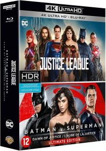 Justice League + Batman v Superman - Packshot Blu-ray 4K Ultra HD