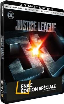 Justice League (2017) de Zack Snyder - Steelbook Édition Spéciale Fnac - Packshot Blu-ray 4K Ultra HD