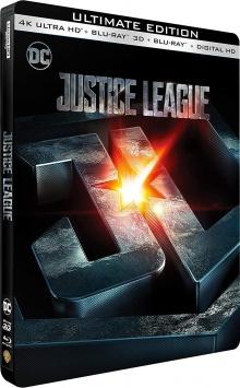 Justice League (2017) de Zack Snyder - Steelbook - Packshot Blu-ray 4K Ultra HD