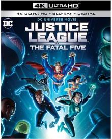 Justice League vs The Fatal Five (2019) de Sam Liu - Packshot Blu-ray 4K Ultra HD
