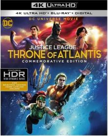 La Ligue des justiciers - Le Trône de l'Atlantide (2015) de Ethan Spaulding - Packshot Blu-ray 4K Ultra HD