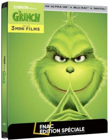 Le Grinch (2018) de Yarrow Cheney & Scott Mosier - Steelbook Édition Spéciale Fnac - Packshot Blu-ray 4K Ultra HD