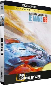 Le Mans 66 (2019) de James Mangold - Steelbook Édition Spéciale Fnac – Packshot Blu-ray 4K Ultra HD
