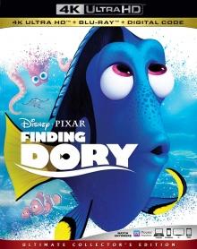 Le Monde de Dory (2016) de Andrew Stanton & Angus MacLane - Packshot Blu-ray 4K Ultra HD