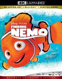 Le Monde de Nemo (2003) de Andrew Stanton & Lee Unkrich - Packshot Blu-ray 4K Ultra HD