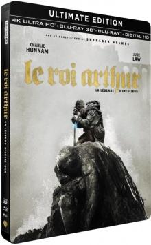 Le Roi Arthur : La Légende d'Excalibur (2017) de Guy Ritchie - Édition Steelbook - Packshot Blu-ray 4K Ultra HD
