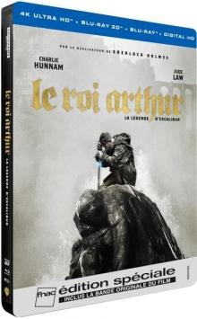Le Roi Arthur : La Légende d'Excalibur (2017) de Guy Ritchie - Steelbook Édition Spéciale Fnac - Packshot Blu-ray 4K Ultra HD