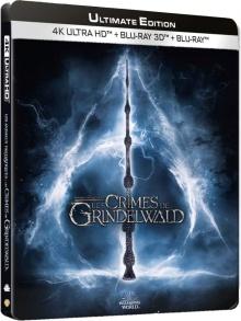 Les Animaux fantastiques : Les Crimes de Grindelwald (2018) de David Yates - Boîtier SteelBook - Packshot Blu-ray 4K Ultra HD