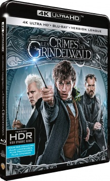 Les Animaux fantastiques : Les Crimes de Grindelwald (2018) de David Yates - Packshot Blu-ray 4K Ultra HD