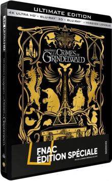 Les Animaux fantastiques : Les Crimes de Grindelwald (2018) de David Yates - Steelbook Édition Spéciale Fnac - Packshot Blu-ray 4K Ultra HD