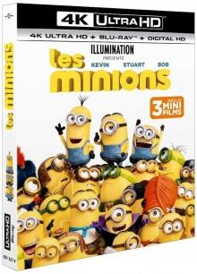 Les Minions (2015) de Kyle Balda & Pierre Coffin - Packshot Blu-ray 4K Ultra HD