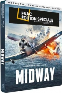 Midway (2019) de Roland Emmerich - Steelbook Édition Spéciale Fnac - Packshot Blu-ray 4K Ultra HD