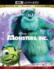 Monstres & Cie (2001) de Pete Docter, David Silverman et Lee Unkrich - Packshot Blu-ray 4K Ultra HD