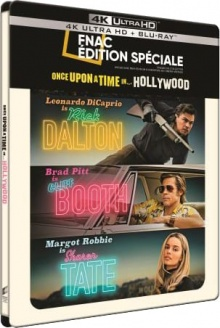 Once Upon a Time... in Hollywood (2019) de Quentin Tarantino - Steelbook Exclusivité Fnac - Packshot Blu-ray 4K Ultra HD