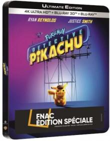 Pokémon - Détective Pikachu (2019) de Rob Letterman - Steelbook Édition Spéciale Fnac - Packshot Blu-ray 4K Ultra HD