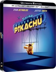 Pokémon - Détective Pikachu (2019) de Rob Letterman - Ultimate Edition - Packshot Blu-ray 4K Ultra HD