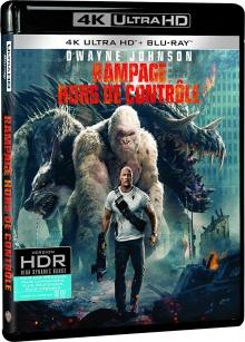 Rampage - Hors de contrôle (2018) de Brad Peyton - Packshot Blu-ray 4K Ultra HD