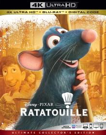 Ratatouille (2007) de Brad Bird & Jan Pinkava - Packshot Blu-ray 4K Ultra HD