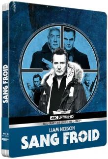 Sang froid (2019) de Hans Petter Moland - Édition boîtier SteelBook - Packshot Blu-ray 4K Ultra HD