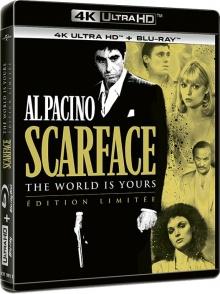 Scarface (1983) de Brian De Palma - Packshot Blu-ray 4K Ultra HD