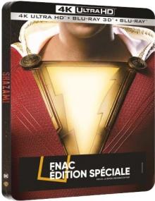 Shazam! (2019) de David F. Sandberg - Steelbook Édition Spéciale Fnac - Packshot Blu-ray 4K Ultra HD