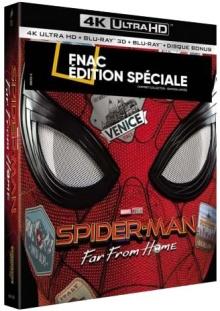 Spider-Man : Far from Home (2019) de Jon Watts - Édition spéciale Fnac Steelbook - Packshot Blu-ray 4K Ultra HD