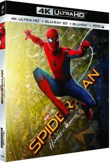 Spider-Man : Homecoming (2017) de Jon Watts - Packshot Blu-ray 4K Ultra HD