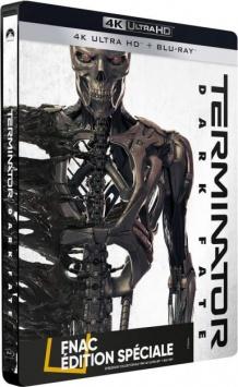 Terminator : Dark Fate (2019) de Tim Miller - Steelbook Édition Spéciale Fnac – Packshot Blu-ray 4K Ultra HD