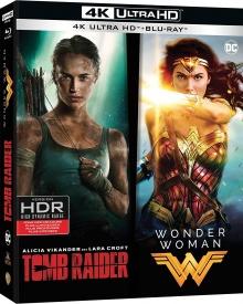 Tomb Raider + Wonder Woman - Packshot Blu-ray 4K Ultra HD