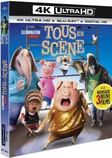 Tous en scène (2016) de Garth Jennings & Christophe Lourdelet - Packshot Blu-ray 4K Ultra HD