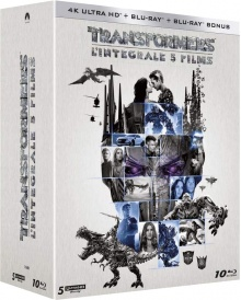 Transformers - L'intégrale 5 films - Packshot Blu-ray 4K Ultra HD
