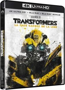 Transformers 3 : La face cachée de la Lune (2011) de Michael Bay - Packshot Blu-ray 4K Ultra HD