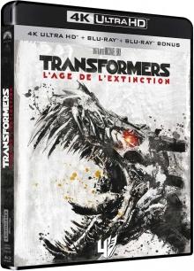 Transformers 4 : L'âge de l'extinction (2014) de Michael Bay - Packshot Blu-ray 4K Ultra HD