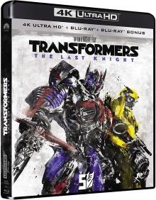 Transformers 5 : The Last Knight (2017) de Michael Bay - Édition 2018 - Packshot Blu-ray 4K Ultra HD