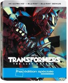 Transformers 5 : The Last Knight - Steelbook Édition spéciale Fnac (2017) de Michael Bay - Packshot Blu-ray 4K Ultra HD