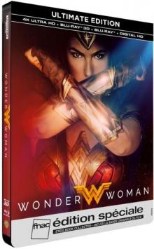 Wonder Woman (2017) de Patty Jenkins - Steelbook Édition Spéciale Fnac - Packshot Blu-ray 4K Ultra HD