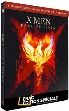 X-Men : Dark Phoenix (2019) de Simon Kinberg - Steelbook Édition Spéciale Fnac - Packshot Blu-ray 4K Ultra HD