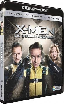 X-Men : Le commencement (2011) de Matthew Vaughn - Packshot Blu-ray 4K Ultra HD