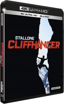 Cliffhanger, traque au sommet (1993) de Renny Harlin – Packshot Blu-ray 4K Ultra HD