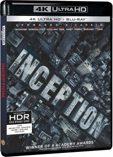 Inception (2010) de Christopher Nolan - Packshot Blu-ray 4K Ultra HD