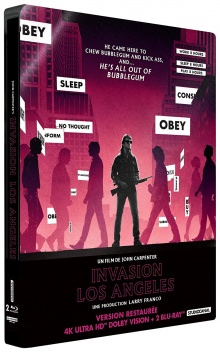 Invasion Los Angeles (1988) de John Carpenter - Édition boîtier SteelBook – Packshot Blu-ray 4K Ultra HD