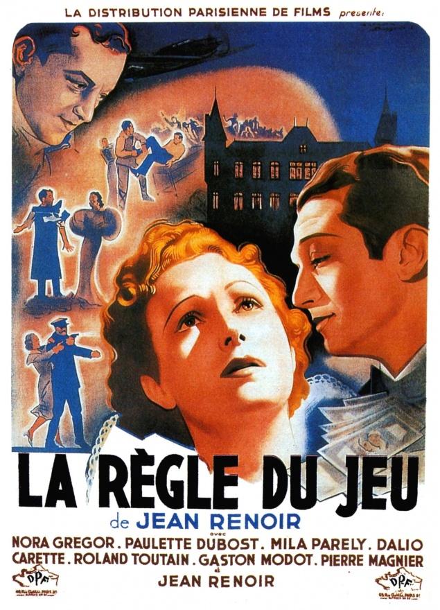 La Règle du jeu - Affiche 1939