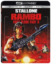 Rambo II: La mission (1985) de George P. Cosmatos – Packshot Blu-ray 4K Ultra HD