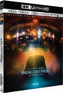 Rencontres du troisième type (1977) de Steven Spielberg - Édition collector 40e anniversaire – Packshot Blu-ray 4K Ultra HD