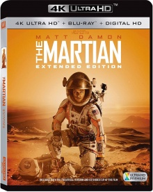 Seul sur Mars (2015) de Ridley Scott – Extended Edition - Packshot Blu-ray 4K Ultra HD