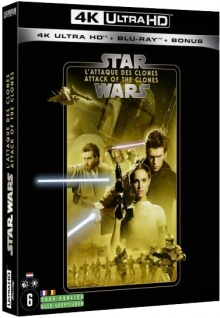 Star Wars, épisode II - L'Attaque des clones (2002) de George Lucas – Packshot Blu-ray 4K Ultra HD