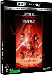 Star Wars, épisode VIII - Les Derniers Jedi (2017) de Rian Johnson – Packshot Blu-ray 4K Ultra HD