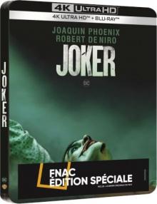Joker (2019) de Todd Phillips – Édition spéciale Fnac boîtier SteelBook – Packshot Blu-ray 4K Ultra HD